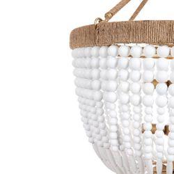 Malabar Beaded Pendant - Small Natural/White