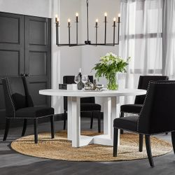 Leeton Round Dining Table - White