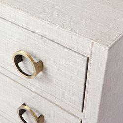 Astley Upholstered Bedside Table - Natural