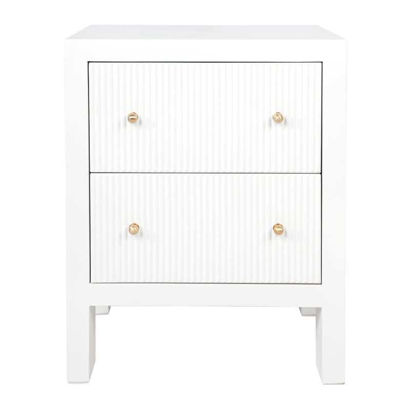 Ariana Bedside Table - Small White