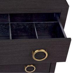 Astley Upholstered Bedside Table - Black