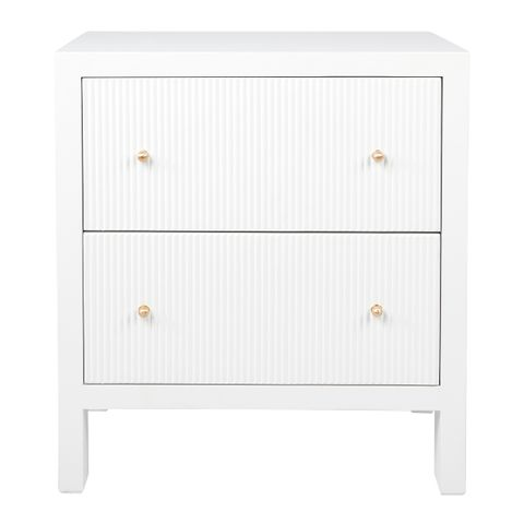 Ariana Bedside Table - Large White