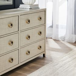 Astley Upholstered Chest - Natural