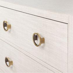 Astley 6 Drawer Upholstered Chest - Natural
