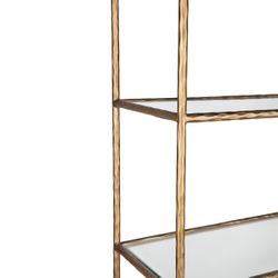 Heston Shelving Unit - Brass