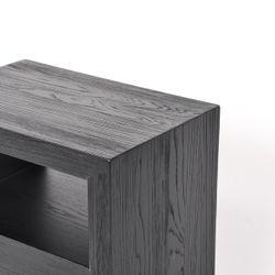 Axel Oak Side Table - Black