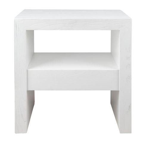Axel Oak Side Table - White