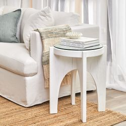 Oasis Rattan Side Table - White