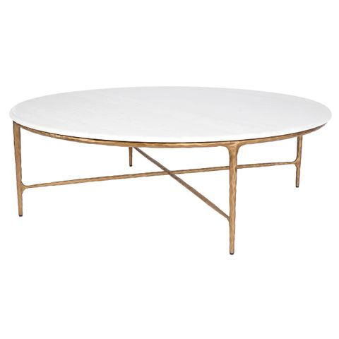 Heston Marble Coffee Table - Brass
