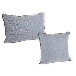 Chevron Upholstery Swatch - Blue