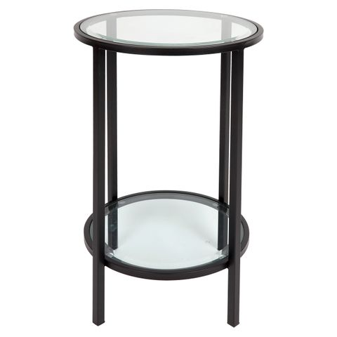 Cocktail Glass Petite Side Table - Black