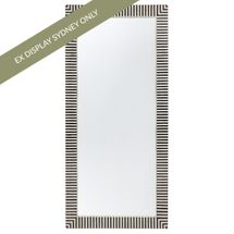 Indi Bone Inlay Floor Mirror - Black