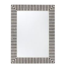 Indi Bone Inlay Wall Mirror - Black