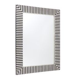 Indi Bone Inlay Wall Mirror - Black