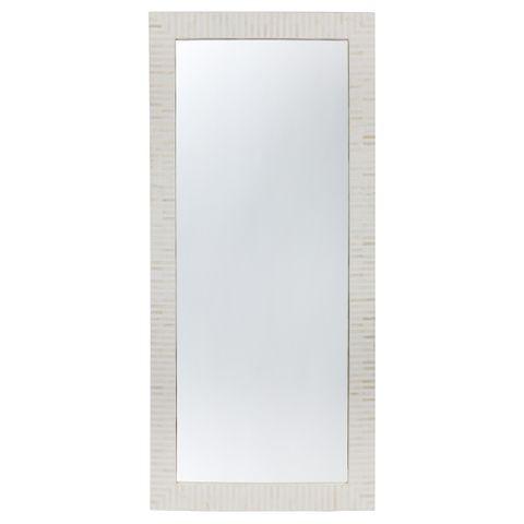 Indi Bone Inlay Floor Mirror - Natural