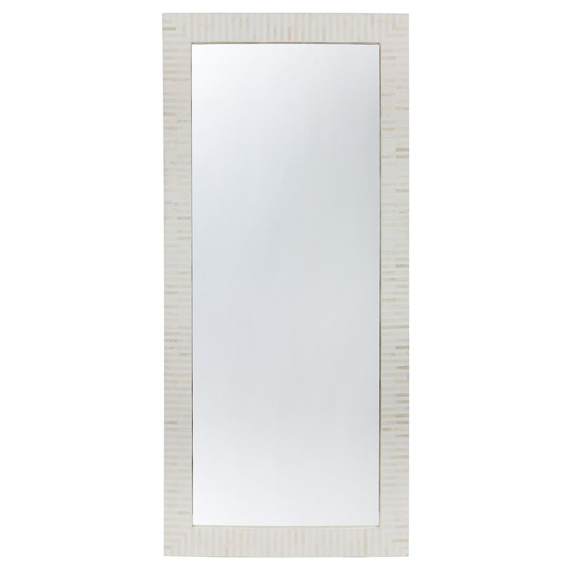 Indi Bone Inlay Floor Mirror - Natural