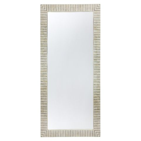 Indi Bone Inlay Floor Mirror - Grey