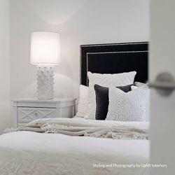 Plantation Bedside Table -  Large White