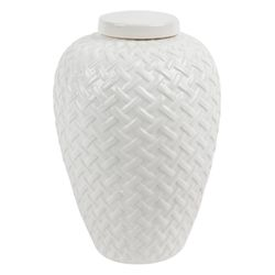Mya Temple Jar - White Range