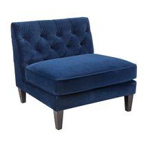 Tuxedo Tufted Occasional Slipper Chair - Navy Velvet