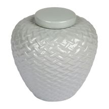 Mya Temple Jar - Small Cool Grey