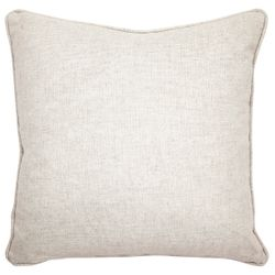 Sass Square Feather Cushion - Grey Velvet w Natural Linen