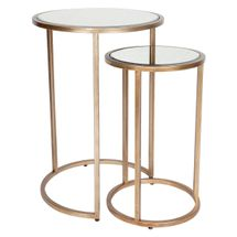 Serene Nesting Side Tables - Antique Gold