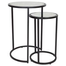 Serene Nesting Side Tables - Black