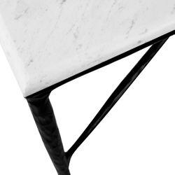 Heston Rectangle Marble Coffee Table - Black