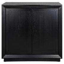 Balmain Oak Drinks Cabinet - Black