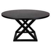 Deccan Round Dining Table - 1.4m Black