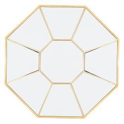 Amari Octagonal Mirror - Gold