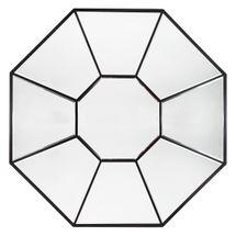 Amari Octagonal Mirror - Black