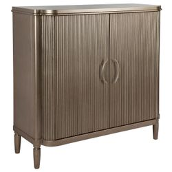 Arielle Bar Cabinet - Antique Gold