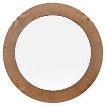 August Round Mirror - Gold