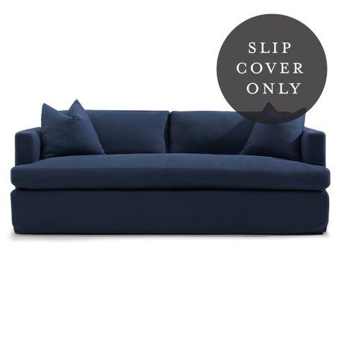 Birkshire 3 Seater Sofa SLIP COVER ONLY - Navy Linen