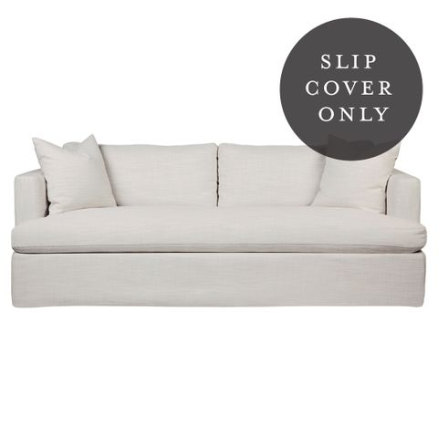 Birkshire 3 Seater Sofa SLIP COVER ONLY - Off White Linen