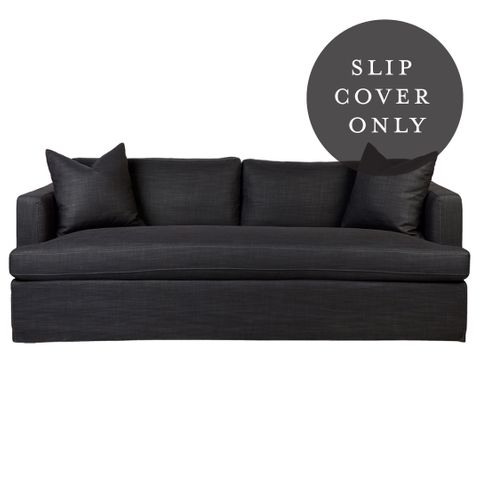 Birkshire 3 Seater Sofa SLIP COVER ONLY - Charcoal Linen