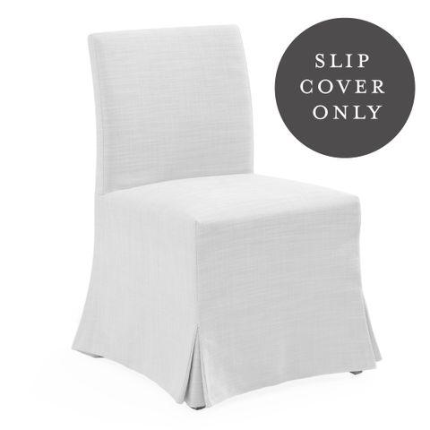 Brighton Dining Chair SLIP COVER ONLY - White Linen