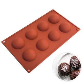 8 CUP HEMISPHERE SILICONE MOULD