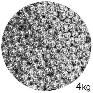 CACHOUS/BALLS | SILVER | 8MM | SPRINKLES | 4KG BOX