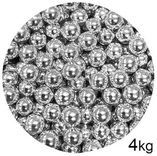 CACHOUS/BALLS | SILVER | 10MM | SPRINKLES | 4KG BOX