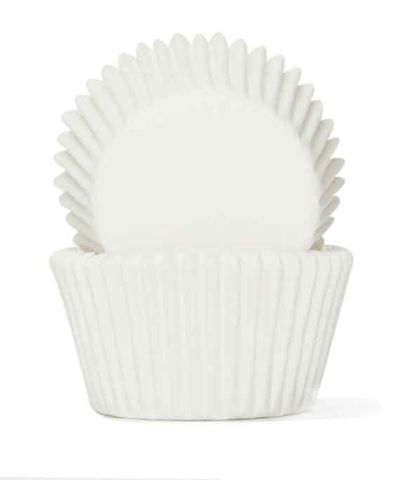408 BAKING CUPS - WHITE - 100 PIECE PACK