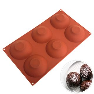 6 CUP LARGE HEMISPHERE SILICONE MOULD