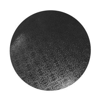 CAKE BOARD | BLACK | 7 INCH | ROUND | MDF | 6MM THICK