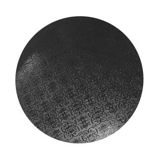 CAKE BOARD | BLACK | 11 INCH | ROUND | MDF | 6MM THICK