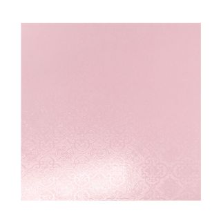 CAKE BOARD | PINK | 5 INCH | SQUARE | MDF | 6MM THICK
