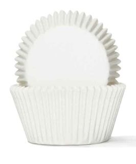 700 BAKING CUPS - WHITE - 100 PIECE PACK