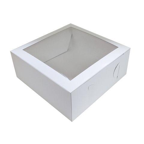 12X12X4 INCH CAKE BOX   TOP WINDOW   UNCOATED CARDBOARD