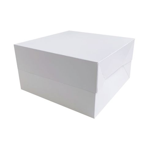 13X13X6 INCH CAKE BOX | BOX & LID COMBO | PE COATED